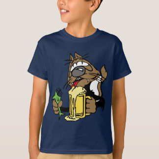 drunk cat shirt. T-Shirt