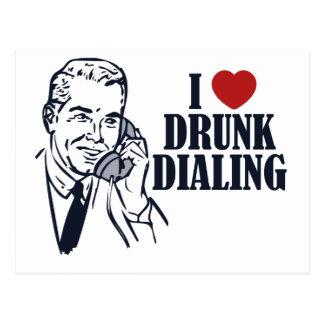 Drunk Dialing Postcard