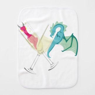 Drunk Dragons Burp Cloth