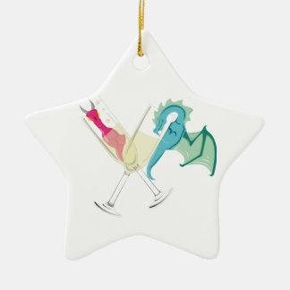 Drunk Dragons Christmas Ornament