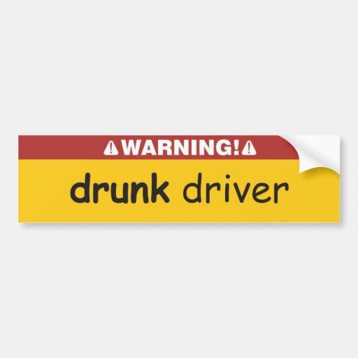 drunk driver bumper stickers