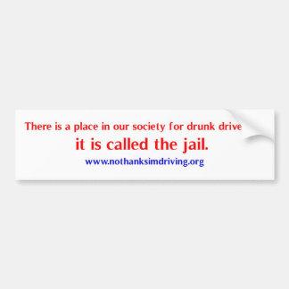 Drunk drivers place bumper sticker