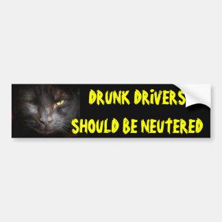 Drunk Drivers Should Be Neutered Mean Cat Bumper Sticker