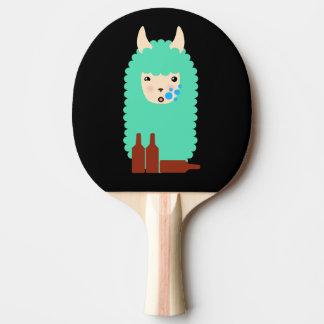 Drunk Emoji Llama Ping Pong Paddle