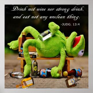 DRUNK FROG-POSTER POSTER