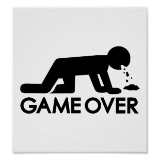 Drunk game over posters