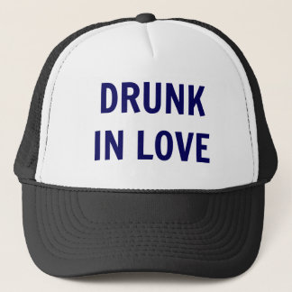 'Drunk In Love' Trucker Hat - Navy Text
