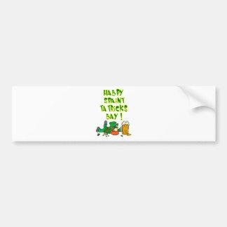 Drunk Leprechaun Bumper Sticker