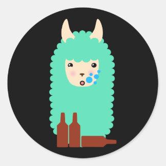 Drunk Llama Emoji Stickers