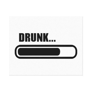 Drunk loading canvas print