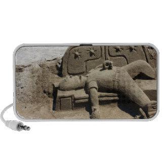 drunk man sand sculpture Doodle Portable Speaker