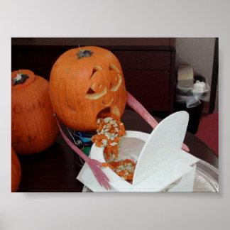 Drunk Pumpkin Print