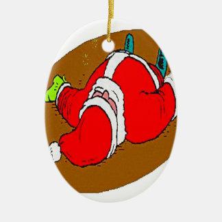 DRUNK SANTA CHRISTMAS ORNAMENT