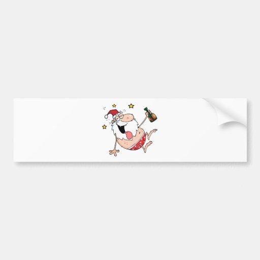 Drunk Santa Claus Bumper Sticker