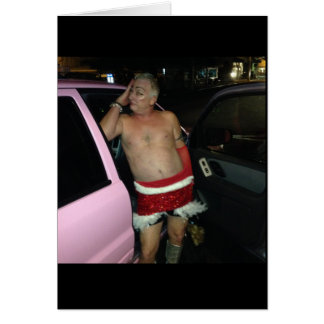 Drunk Santa Holiday Card