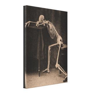 Drunk Skeleton Canvas Prints