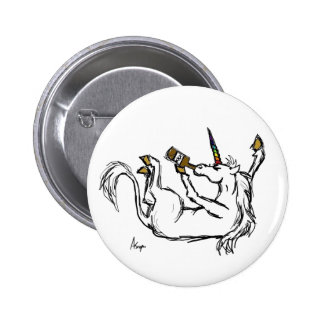 Drunk Unicorn Button