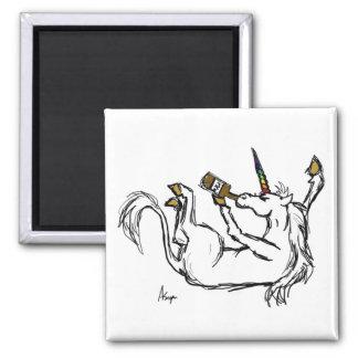 Drunk Unicorn Magnet