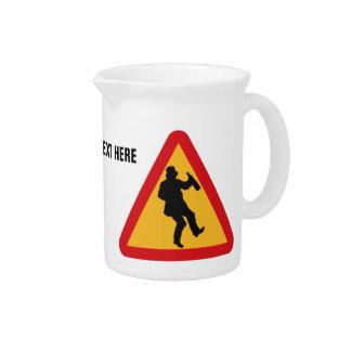 Drunk Warning custom pitcher