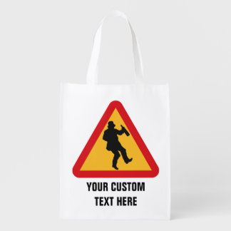 Drunk Warning custom reusable bag