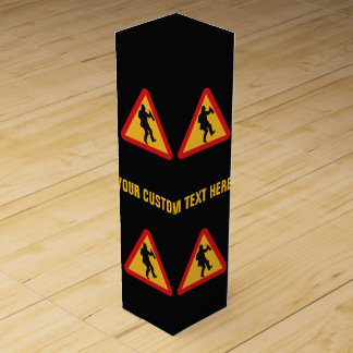 Drunk Warning custom wine gift box