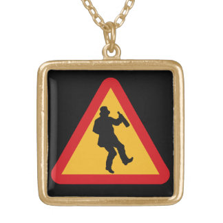 Drunk Warning necklace