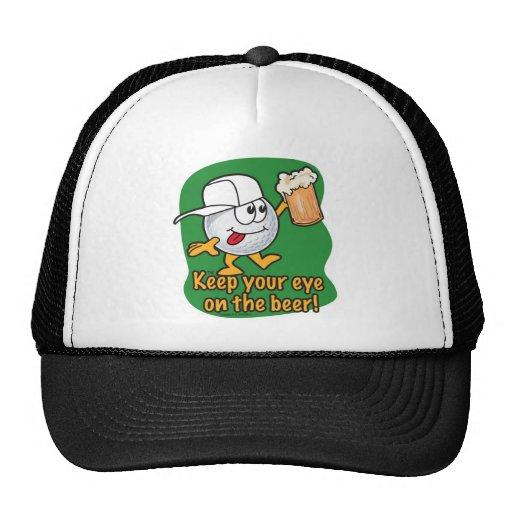 Drunken Cartoon Golf Ball Mesh Hat