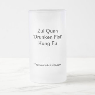 Drunken Fist Style Frosted Glass Mug