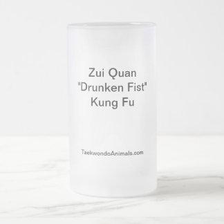 Drunken Fist Style Frosted Glass Mug