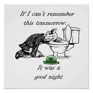 Drunken Leprechaun Poster