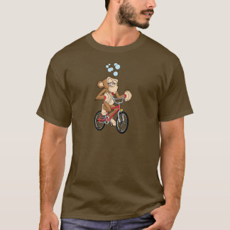 Drunken Monkey Riding Bicycle T-Shirt