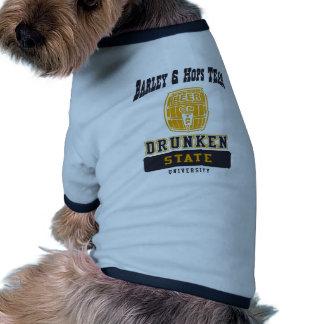 Drunken State College by U.S. Custom Ink Doggie Shirt