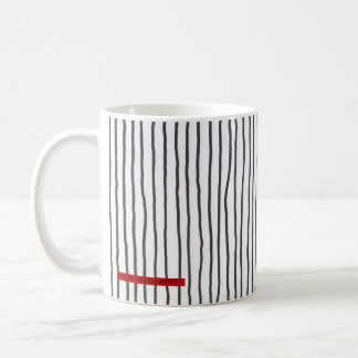 Drunken stripe - vertical. white - mug