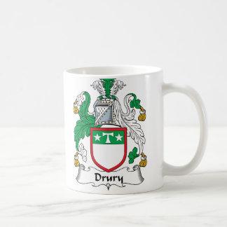 Drury Family Crest Classic White Coffee Mug