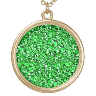 Druzy crystal glitter - emerald green necklaces