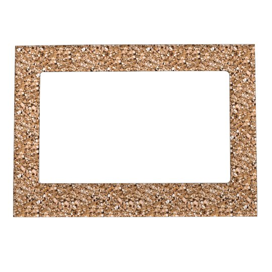 Druzy crystal - rose gold colour magnetic frame