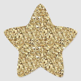Druzy crystal - yellow gold color star sticker