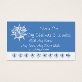 Dry cleaner Laundry - Customer Loyalty Punch Card