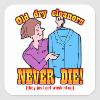 Dry Cleaners Square Sticker