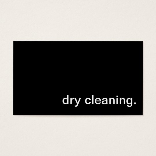 Dry Cleaning Business Card