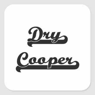 Dry Cooper Classic Job Design Square Sticker