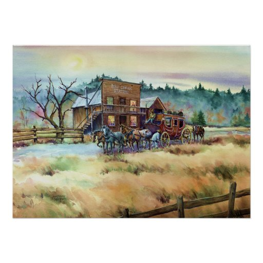 DRY CREEK STATION by SHARON SHARPE Posters