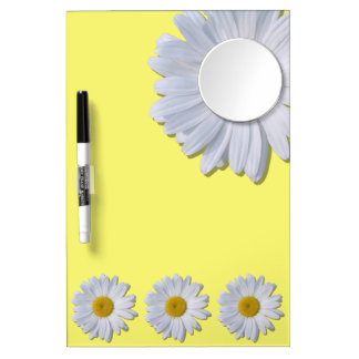 Dry-Erase Board - New Daisies on Yellow