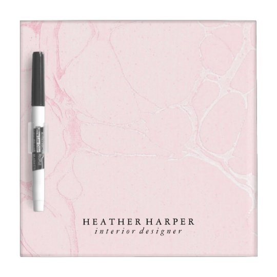 Dry Erase Board - Pink Marble