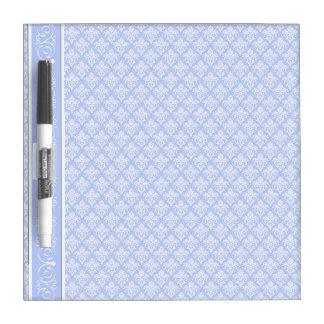 Dry-Erase Board - Wedgewood Blue Damask
