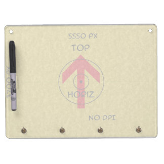 dry erase board with key - horiz - template