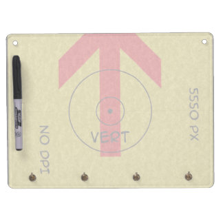dry erase board with key - vert - template