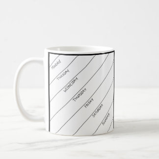 Dry Erase Daily Planner Mug