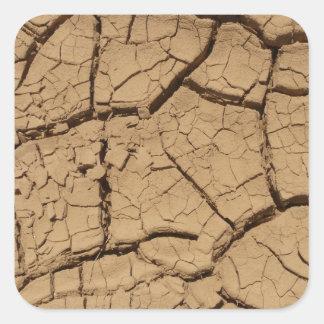 Dry ground in Death Valley Square Sticker