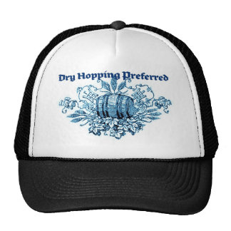 DRY HOPPING PREFERRED VINTAGE BEER KEG PRINT BLUE MESH HATS
